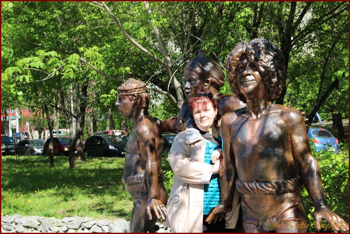 пруды, прогулка, мультфильмы, парк, хабаровск
